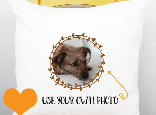 Pet Memorial Keepsake Cushion - YOUR PET PHOTO - Afewhometruths