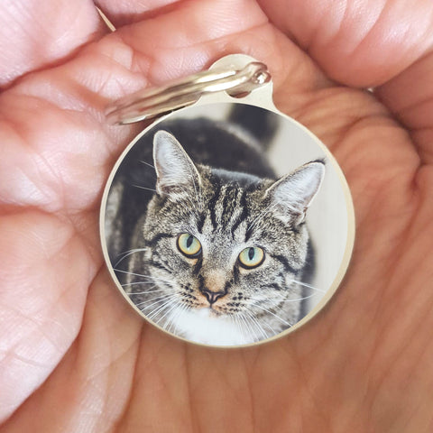 Cat Memorial Keepsake Keychain Gift - Custom Printed from your Pet Photo - Afewhometruths