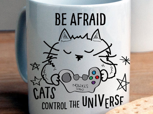 Cats control the Universe Mug - Afewhometruths