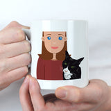 Personalised Cat Mum Gift Mug