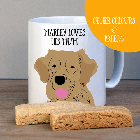 Personalised Golden Retriever Gift Mug - Afewhometruths