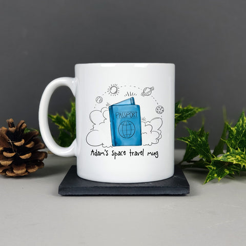 Personalised Space Travel Journal Mug Gift - Afewhometruths