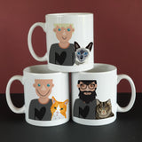 Personalised Cat Dad Gift Mug