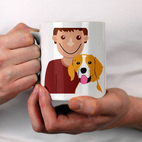 Personalised Dog Dad Gift Mug - Afewhometruths