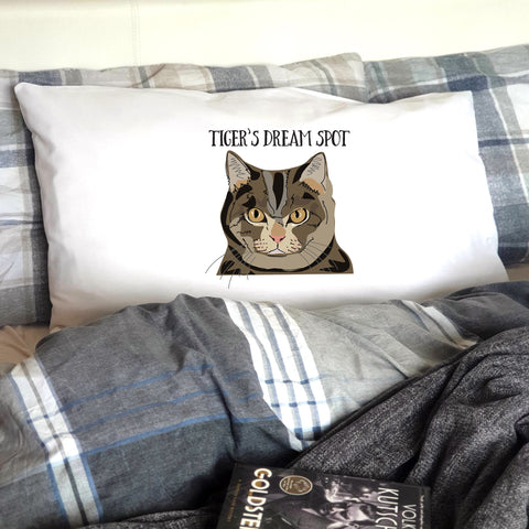 Personalised Cat Pillow Case