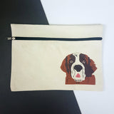 Personalised Dog Zipped Pouch - multiple breeds - Afewhometruths