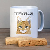 Personalised Cat Lover Gift Mug