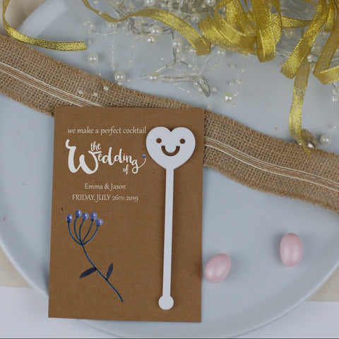 Rustic Berry Wedding Favours Card - Afewhometruths
