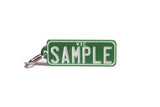 Number Plate Key Ring Green with White Writing