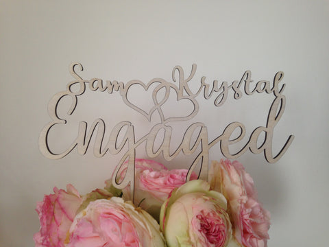 Engaged Cake Topper