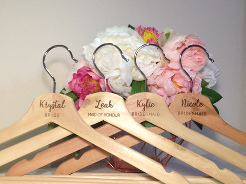 Wedding Coat Hangers Individual