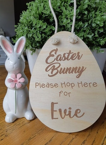 Easter Bunny Please Hop Here
