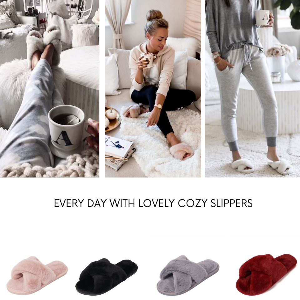 Comfy Walk: Women Faux Fur Slippers (BUY 2 FREE SHIPPING)