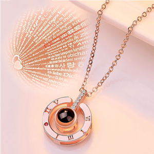 "Best Christmas Gift: 100 Languages ""I love you"" Necklace"