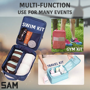 SAM 3-in-1 Travel Foldable Waterproof Shoe Pouch