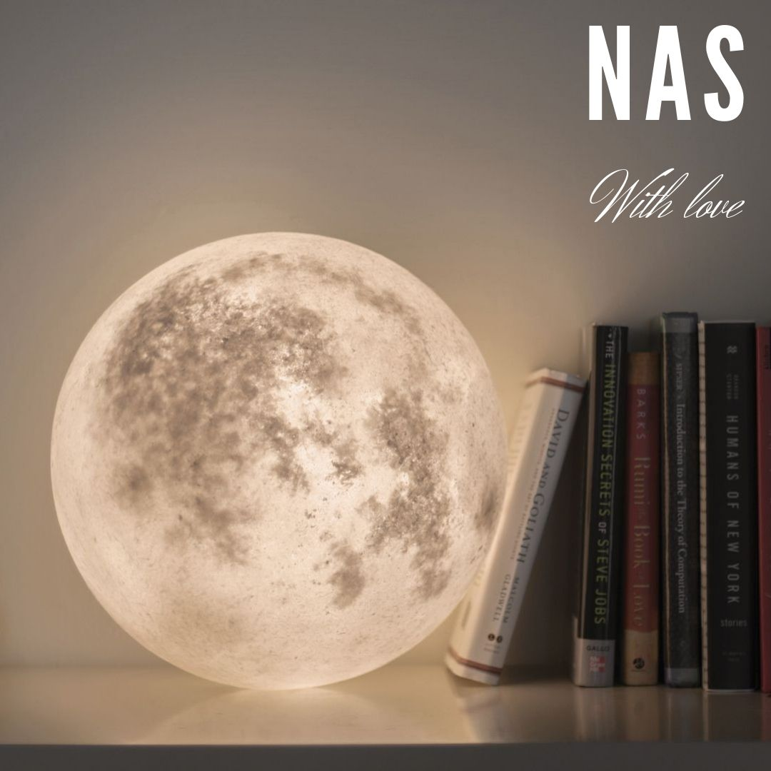 NAS 2020 New Realistic 3D Printed Moon Lamp