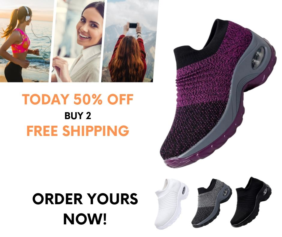 COMFY WALK: Women's Breathable Air Cushion Sneakers (BUY 2 FREE SHIPPING)
