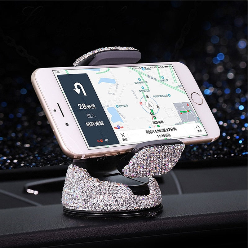 SKIE - Handmade Crystal Rhinestones Car Phone Holder