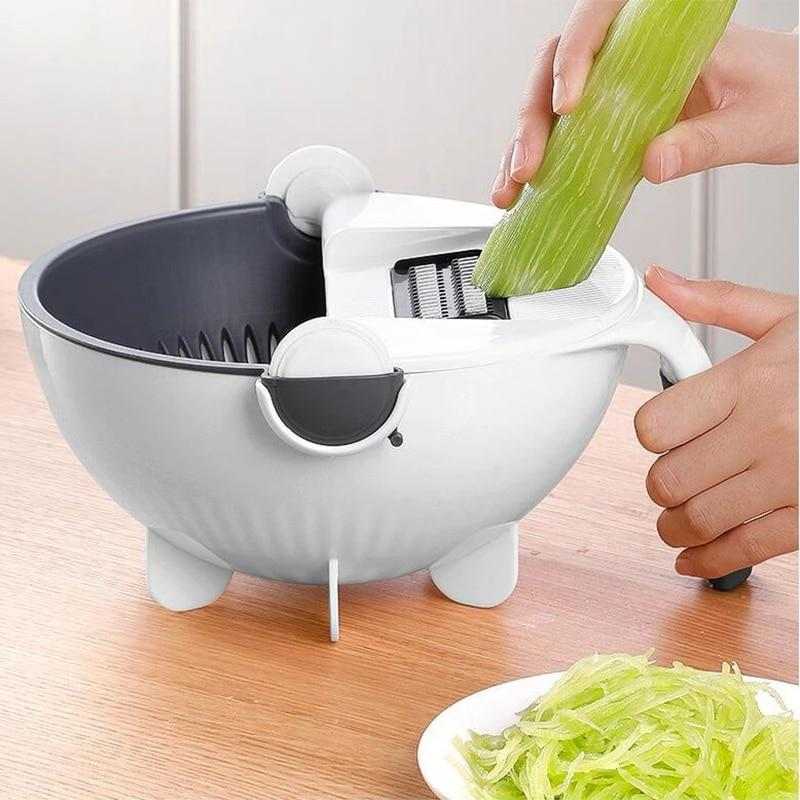 7-in-1 Vegetable Cutter and Slicers With Drain Basket