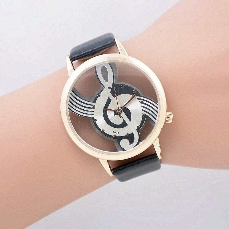 Stylish Treble Clef Musical Watch
