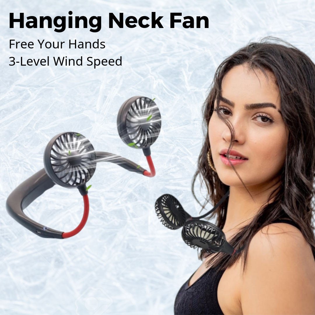 JOY Portable Hanging Neck Fan