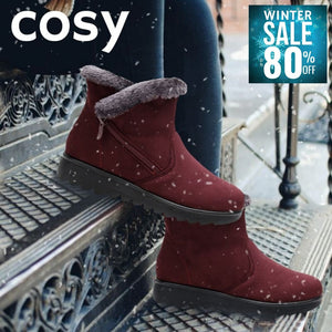 COSY Winter Warm Snow Flock Zip Boot