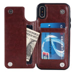 PU - Retro Leather Case Multi Card Holders for Iphone and Samsung