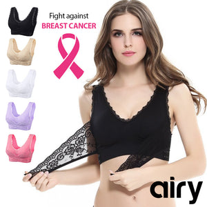 AIRY Full-Figure Plus-Size Seamless Wirefree Lift Support Bra