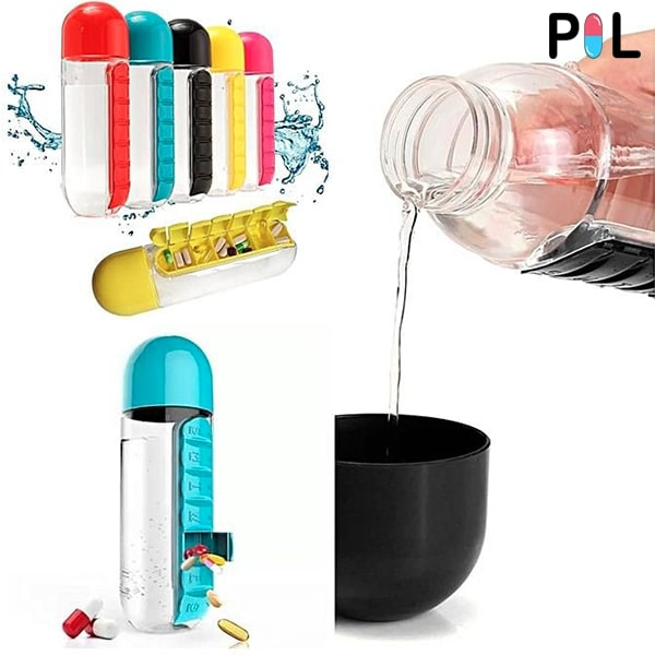 PIL - Daily Pills and Vitamins Organizer Bottle