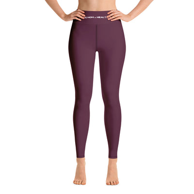 Yoga Leggings Mom - Pflaume