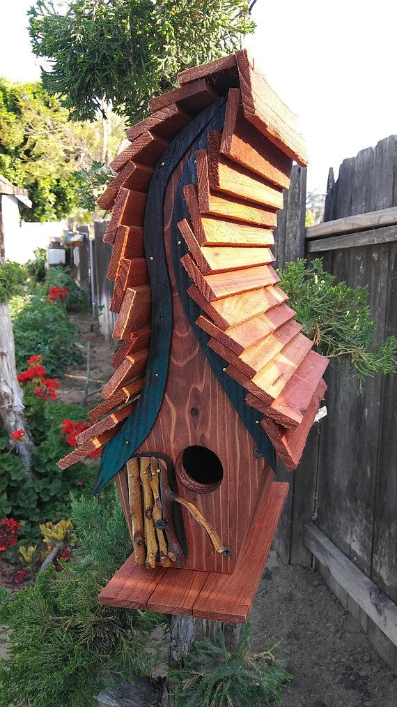 Backyard Habitat - Unique Hand Crafted Bird House - Wren-Chester House