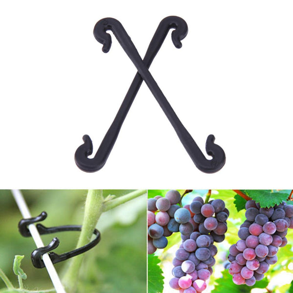 GARDEN SUPPLIES - 200pcs Grape Quality Durable Plastic Sling Clips Fastener Plant Vines Tomato Vegetable Bush Tendril Binder Farming Clip