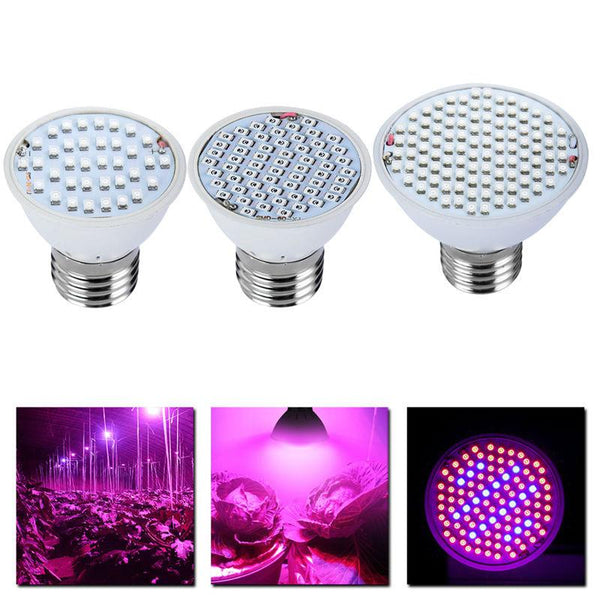 GROW LIGHTS & STANDS - Full Spectrum LED Grow Light 8W E27 500lm Spotlight Lamp Bulb Flower Plant Greenhouse Hydroponics System AC85-265V Grow Box