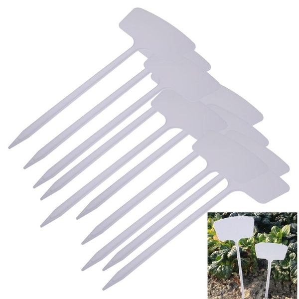 Planting Accessories - 10Pcs T-type Plastic Garden Plant Labels Flower Tag Marker Stick Nursery Pot Tags Pot Garden Decoration Tools