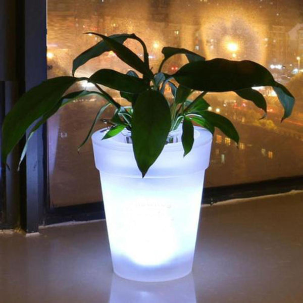 Pots & Planters - Color Changing LED Lighting Flower Planter - Great For Patio