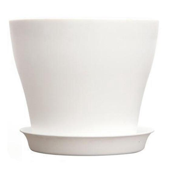 POTS & PLANTERS - Plastic Plant Flower Pot Planter With Saucer