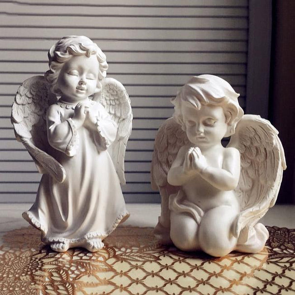 Yard & Garden Decor - Handmade Praying Angel Kneeling & Standing