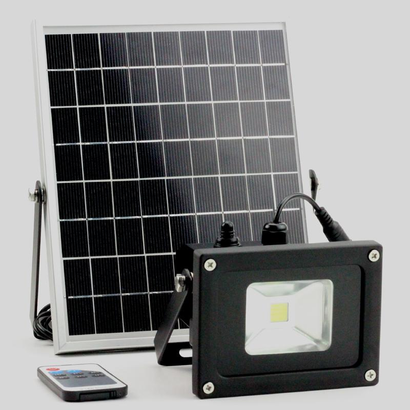 YARD & OUTDOORS - 5W/10W Solar Light Solar Working Lamp Garden Floodlight With Lux Sensor & Remote Control Remote Control Led Spotlight Outdoor