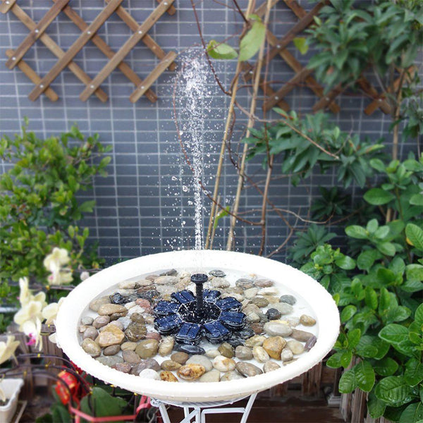 YARD & OUTDOORS - AsyPets Flower-shape Solar Powered Floating Fountain For Pond Garden Decoration-40