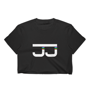 Women's JJ White logo Crop Top