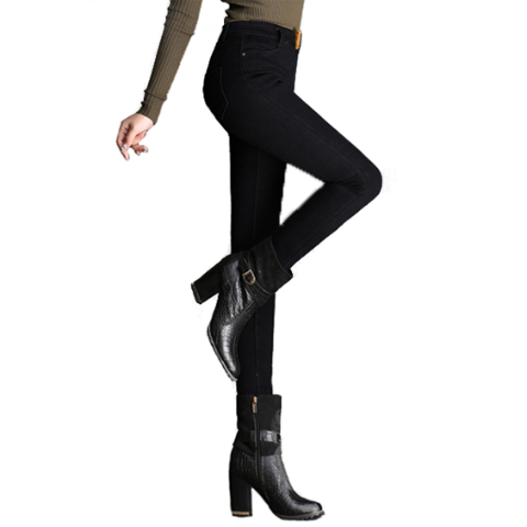 Black High Waist Warm Premium Jeans - Best Seller - Black Friday Special - Deal Ends Soon