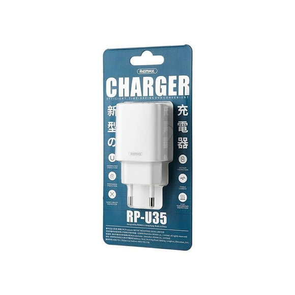 REMAX 2USB CHARGER+DATA CABLE 2.1A RP-U35