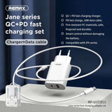 REMAX QC+PD FAST CHARGER+DATA CABLE 3.0 18W RP U37