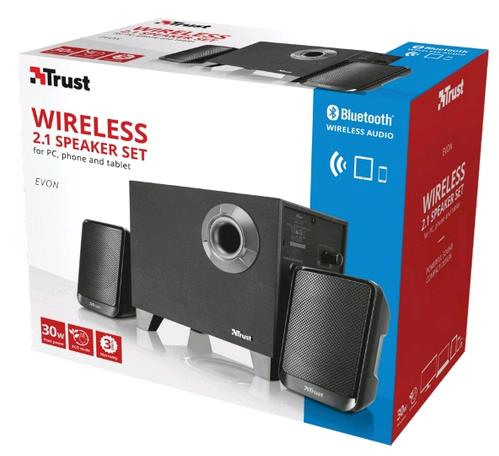 TRUST WIRELESSS 2.1 Speaker Set Evon