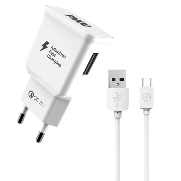 PHIXI MICRO/TYPE-C USB FAST CHARGER 3.0A QCH202M/A