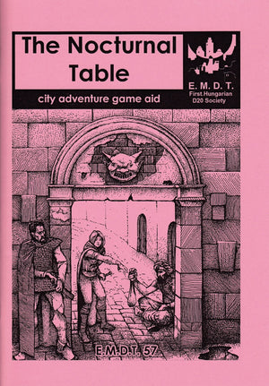 The Nocturnal Table: city adventure game aid
