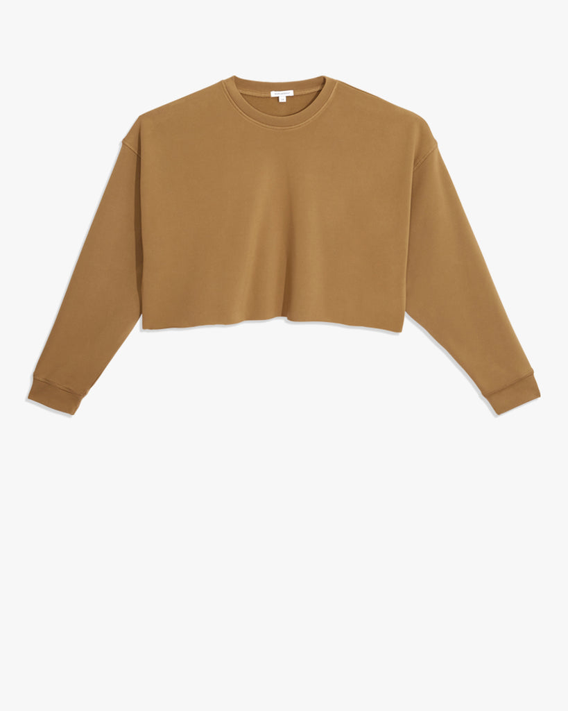 Cropped Ultra Soft Terry Crewneck