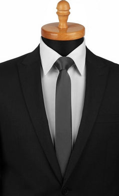 SATIN TIE | CHARCOAL GREY