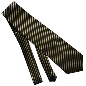 BLACK STRIPED TIE | GOLD | GENTS CLOBBER