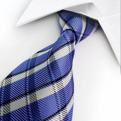 SILK TIE | STRIPED | BLUE | GENTS CLOBBER